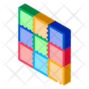 Colorful Twister Game Icon