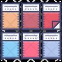 Fabric Samples Pallete Icon