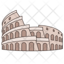 Colosseum Italy World Icon