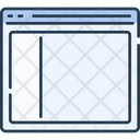 Website Wireframe Webpage Wireframe Column Structure Icon