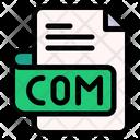 Com File Type File Format Icon