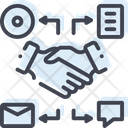 Comarketing Handshake Handgrip Icon