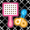 Pet Comb Scissors Icon
