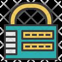 Combination Lock Security Icon