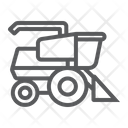 Combine Harvester Agriculture Icon