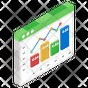 Combo Chart Infographic Statistics Icon