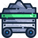 Combustible Mine Trolley Coal Icon