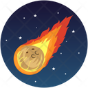 Comet Asteroid Space Icon