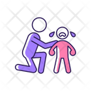 Comforting Crying Child Icon