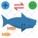 Commensalism Shark Sucker Icon