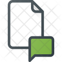 Comment Message Paper Icon