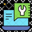 Comment Laptop Message Bubble Icon