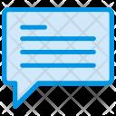 Comment Message Bubble Icon