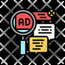Advertisement Comments Color Icon