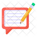 Message Write Comment Write Blog Writing Icon