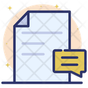Comments Review Feedback File Icon