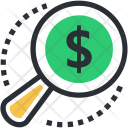 Commerce Magnifier Dollar Icon