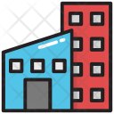 Flat Building Block Icon