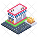 Depot Storehouse Commercial Warehouse Icon