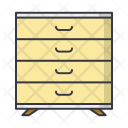 Commode Drawer Furniture Icon