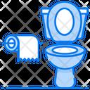 Commode Flush Toilet Seat Icon