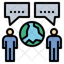 Communicate Connect Negotiate Icon