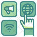 Communicate Choose Application Internet Icon
