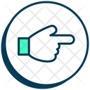 Communication Hand Gesture Pointinng Icon
