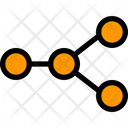Communication Network Circle Icon