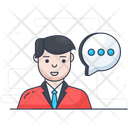 Communication Man Talking Messaging Icon