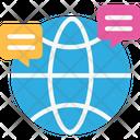 Communication International Communication Globe Icon
