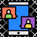 Avatar Smartphone Chat Bubbles Icon