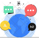 Language Learning Connect World Connection Icon