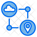 Communication Cloud Location Icon