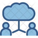 Communication Cloud User Networking Icon