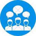 Crowd Talking Communication Icon