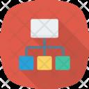 Communication Network Orgchart Icon