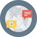 Communication Global Chat Icon