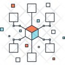 Communication Network Link Icon