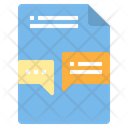 File Customer Service Communication Chatting Icon
