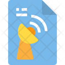 Satlelite Communication File Conversation Icon