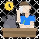 Man Cat Clock Icon