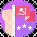 Communist Flag Labor Flag Communist Icon