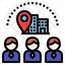 Company Visit Visitor Icon