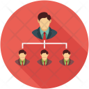Company Hierarchy Team Icon