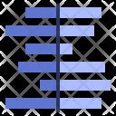Deviation Diverging Bar Icon