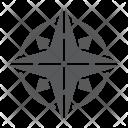 Compass Navigator Geography Icon