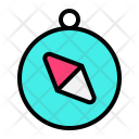Compass Direction Traveling Icon