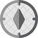 Travel Flat Compass Object Icon