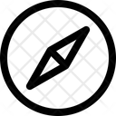 Compass Direction Way Icon